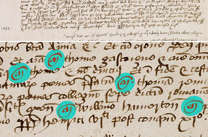 Ligatury woksfordzkim rejestrze Vetus Registrum